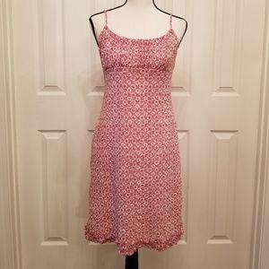 CDC Petites sz10 pink rose lace sleeveless dress